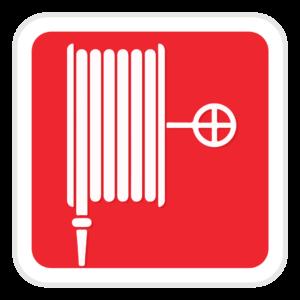 señalización de manguera contra incendios