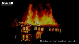 Qué hago después de un incendio