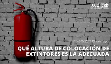 Altura Reglamentaria Extintores Alicante